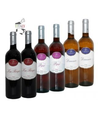 6 BOTTLES CIRO' DOC RED-ROSE?-WHITE WINE - AZIENDA VINICOLA PIPITA