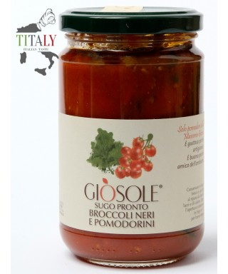 READY SAUCE WITH BLACK BROCCOLI AND TOMATOES 280gr