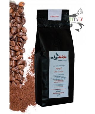 GROUND ESPRESSO COFFEE DELIZIA BLEND ESPRESSO BAR 250gr