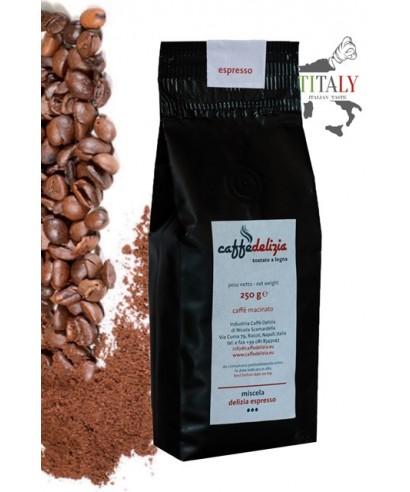 CAFFE' ESPRESSO MACINATO MISCELA DELIZIA ESPRESSO BAR 250gr