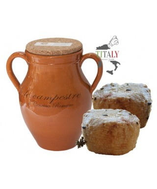 CONCIATO ROMANO GOAT CHEESE IN CLAY JARS WITH LIQUID SEASONING
