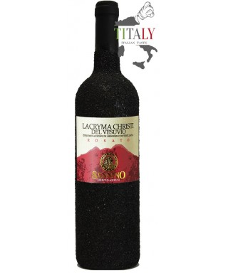 LACRYMA CHRISTI ROSE' WINE FROM VESUVIUS DOC IN LAVA STONE 75cl - VINICOLA SANNINO