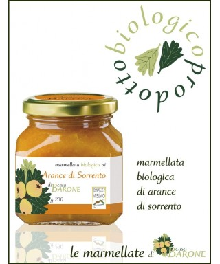 SORRENTO ORANGE JAM ORGANIC - 230gr