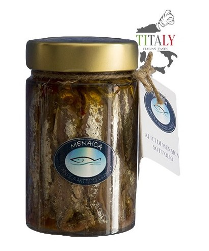 MENAICA ANCHOIVES WITH BONE IN OIL 200gr
