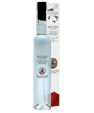 "GRAPPA OF LACRYMA CHRISTI WINE FROM VESUVIUS ""AGLIA"" 50CL -VINICOLA SANNINO"