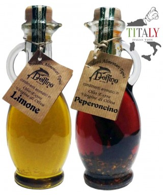 KIT OILS FLAVORED WITH LEMON AND CHILI 250ml - DELFINO BATTISTA
