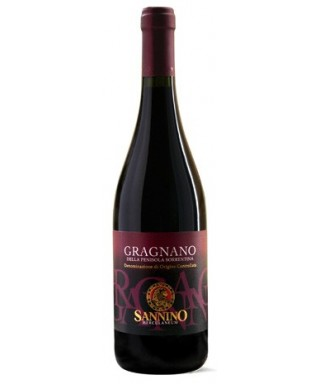 GRAGNANO RED WINE FROM SORRENTO PENINSULA D.O.C. 75cl - VINICOLA SANNINO