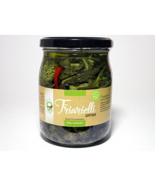 "NEAPOLITAN BROCCOLI ""FRIARIELLI"" IN OIL 580ml - ORTO CHEF"