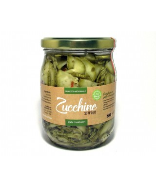 ZUCCHINI IN OIL 580ml - ORTO CHEF