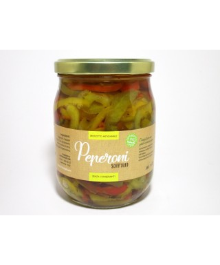PEPPERS IN OIL 580ml - ORTO CHEF