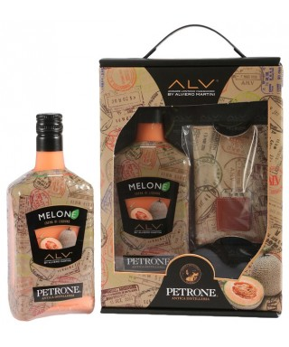 LIQUEUR CREAM 70 cl WITH PASSPORT HOLDER BY ALVIERO MARTINI - DISTILLERIA PETRONE