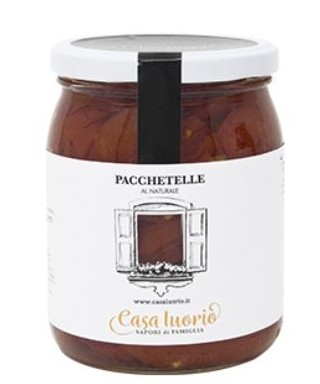 "PACCHETELLE TOMATO FILLETS ""FIASCHELLO OF BATTIPAGLIA"" 520gr - CASA IUORIO"