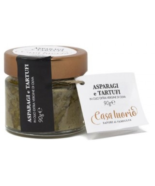 PATE' OF ASPARAGUS AND BLACK TRUFFLE 90gr - CASA IUORIO