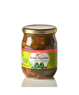 ANCIENT TORZELLA NAPOLETANA VEGETABLES MARRIED WITH VESUVIAN CHERRY TOMATOES PIENNOLO PDO 580ml - SOLE E TERRA DEL VESUVIO