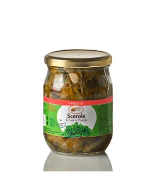 ESCAROLES WITH SALINA CAPERS AND BLACK OLIVE OF CASERTA IN OIL 580ml - SOLE E TERRA DEL VESUVIO