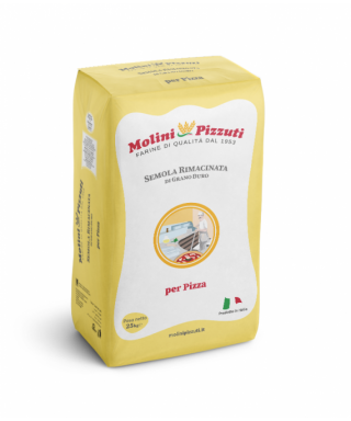 PIZZERIA RE-MILLED SEMOLINA FLOUR 25Kg - MOLINI PIZZUTI