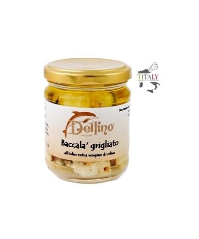 FILETTI DI BACCALA' GRIGLIATO IN OLIO DI OLIVA - 200gr