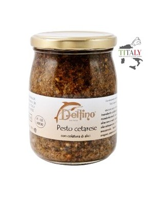 CETARA PESTO WITH ANCHOVY SAUCE (COLATURA DI ALICI) – 212ml