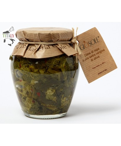 TURNIP GREENS IN EXTRA VIRGIN OLIVE OIL 280 gr